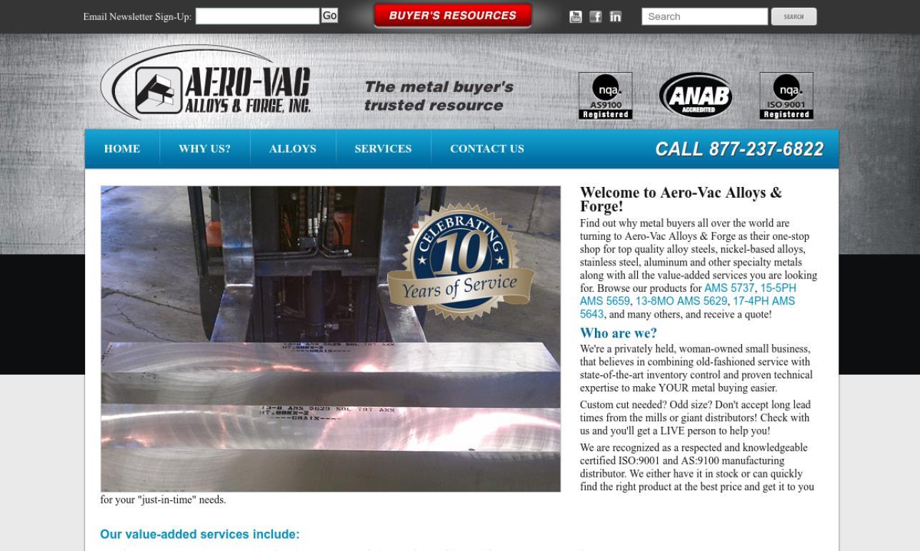 Aero Vac Alloys & Forge, Inc.