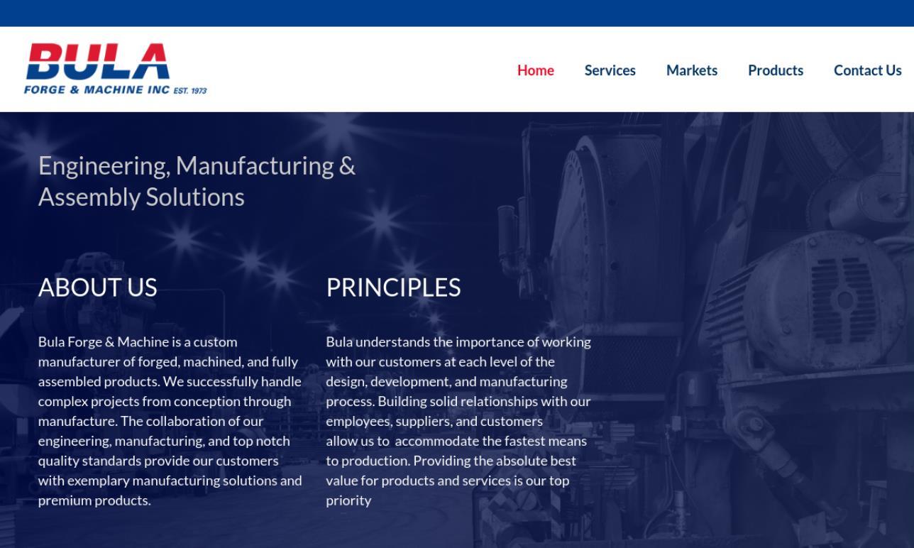 Bula Forge & Machine, Inc.