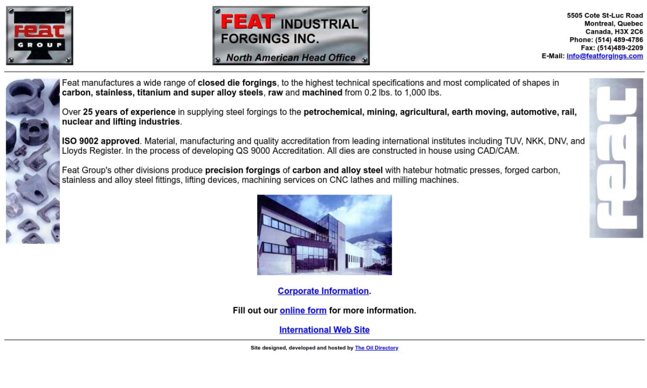 Feat Industrial Forgings, Inc.