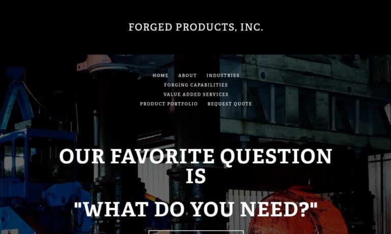 Forged Products, Inc.
