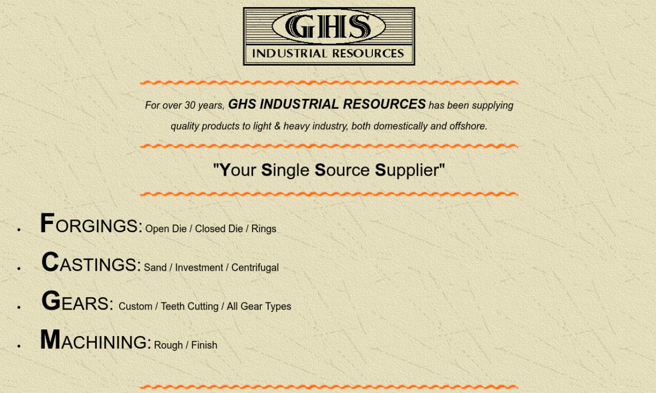 GHS Industrial Resources