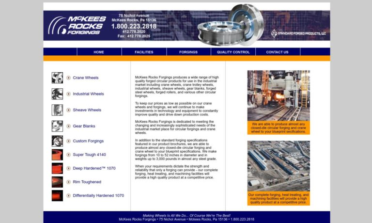 McKees Rocks Forgings, Inc.