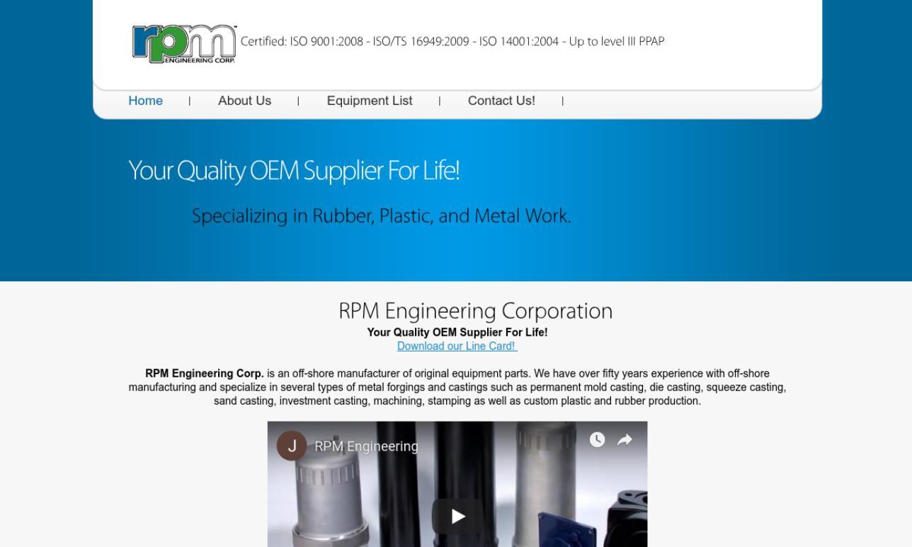 RPM Engineering Corp.