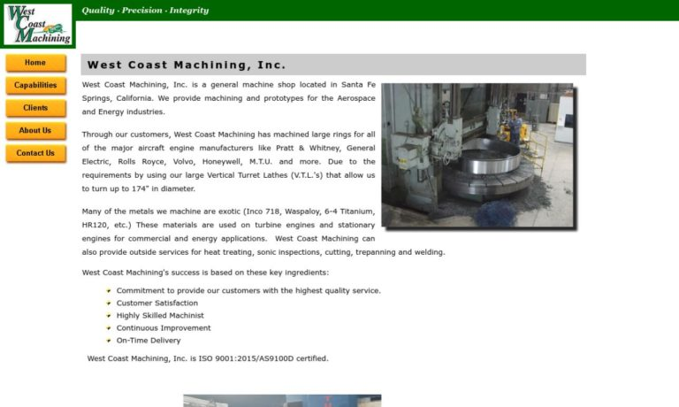 West Coast Machining, Inc.